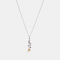 COACH F28707 - STAR CLUSTER NECKLACE MULTI/RHODIUM