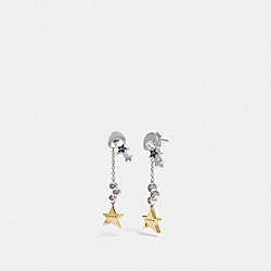 COACH F28711 Star Cluster Drop Earrings MULTI/RHODIUM