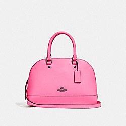 COACH F28718 Mini Sierra Satchel BLACK ANTIQUE NICKEL/NEON PINK