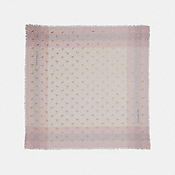 COACH FLAMINGO FOIL WINDOWPANE CHALLIS - LIGHT PINK - F28797
