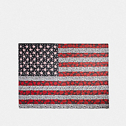AMERICAN FLAG PATCHWORK SHAWL - F28820 - TRUE RED MULTI