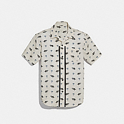 COACH F28845 Printed Short Sleeve Shirt CHALK MULTI