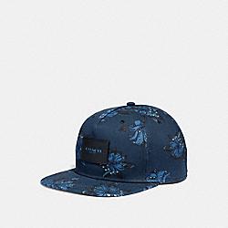 FLORAL PRINT FLAT BRIM HAT - f28846 - LI7