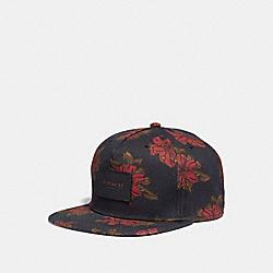 FLORAL PRINT FLAT BRIM HAT - f28846 - NH0