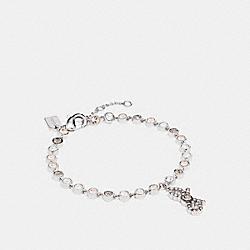 COACH F28867 Bow Chain Bracelet MULTI/SILVER