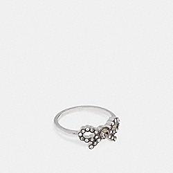 BOW RING - f28871 - MULTI/SILVER