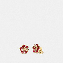 COACH F28878 Hibiscus Stud Earrings MULTI/GOLD