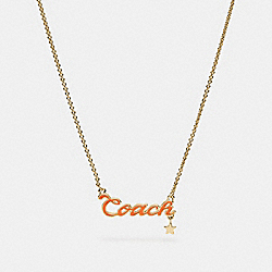 COACH F28879 Coach Script Necklace MULTI/GOLD