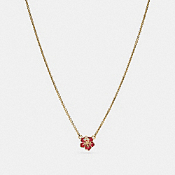 COACH F28880 Hibiscus Necklace MULTI/GOLD
