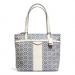 COACH F28927 - SIGNATURE STRIPE JACQUARD TOTE ONE-COLOR