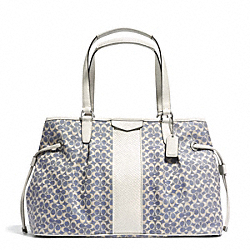 COACH F28932 - SIGNATURE STRIPE JACQUARD DRAWSTRING CARRYALL ONE-COLOR