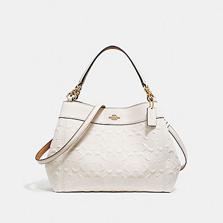 COACH f28934 SMALL LEXY SHOULDER BAG IN SIGNATURE LEATHER CHALK/LIGHT GOLD