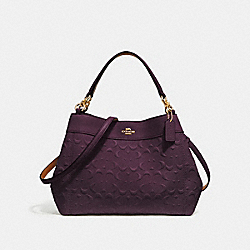 SMALL LEXY SHOULDER BAG IN SIGNATURE LEATHER - f28934 - oxblood 1/light gold