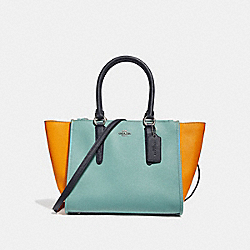 COACH F28943 Crosby Carryall In Colorblock SILVER/BLUE MULTI