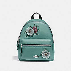 MINI CHARLIE BACKPACK WITH HAWAIIAN FLORAL EMBROIDERY - f28953 - SVNGV