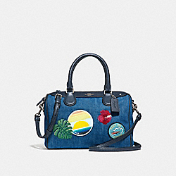 MINI BENNETT SATCHEL WITH BLUE HAWAII PATCHES - f28957 - SVM64