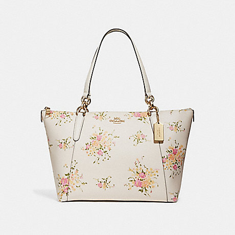 64b05793a1bd COACH f28965 AVA TOTE WITH FLORAL BUNDLE PRINT CHALK MULTI IMITATION GOLD
