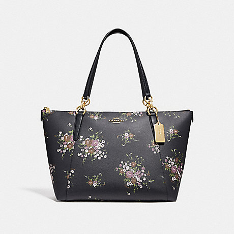 7fe7109ecc5e COACH f28965 AVA TOTE WITH FLORAL BUNDLE PRINT MIDNIGHT MULTI IMITATION GOLD