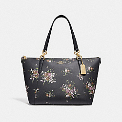 COACH F28965 Ava Tote With Floral Bundle Print MIDNIGHT MULTI/IMITATION GOLD