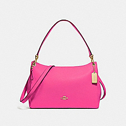 COACH F28966 Mia Shoulder Bag PINK RUBY/GOLD
