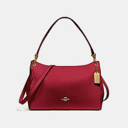 COACH F28966 Mia Shoulder Bag CHERRY /LIGHT GOLD