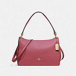 MIA SHOULDER BAG - F28966 - STRAWBERRY/LIGHT GOLD