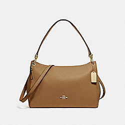 MIA SHOULDER BAG - f28966 - LIGHT SADDLE/IMITATION GOLD