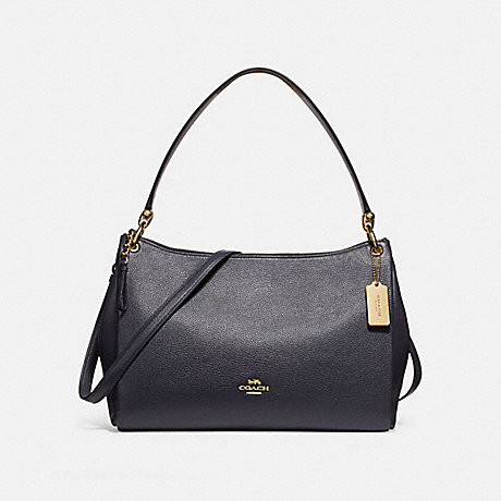 COACH f28966 MIA SHOULDER BAG MIDNIGHT/IMITATION GOLD