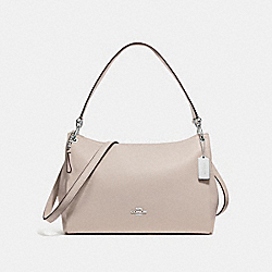 COACH F28966 Mia Shoulder Bag GREY BIRCH/SILVER