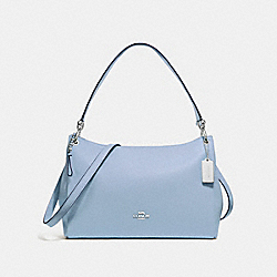MIA SHOULDER BAG - F28966 - CORNFLOWER/SILVER