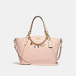 SMALL KELSEY SATCHEL WITH BRACELET - f28968 - LIGHT PINK/IMITATION GOLD