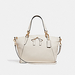 SMALL KELSEY SATCHEL WITH BOW - f28969 - CHALK/IMITATION GOLD