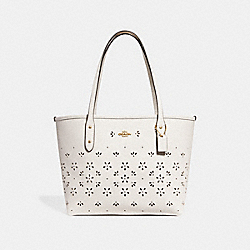 COACH F28971 - MINI CITY ZIP TOTE CHALK/IMITATION GOLD