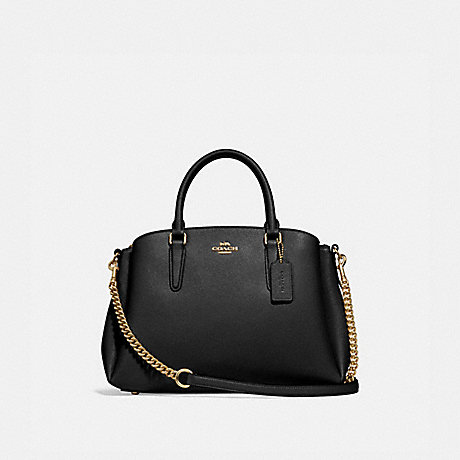 COACH f28976 SAGE CARRYALL BLACK/IMITATION GOLD
