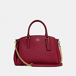 COACH F28976 Sage Carryall CHERRY /LIGHT GOLD