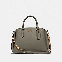 COACH F28976 - SAGE CARRYALL MILITARY GREEN/GOLD