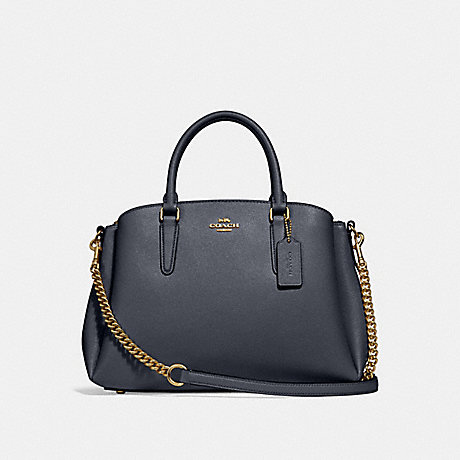 COACH f28976 SAGE CARRYALL MIDNIGHT/IMITATION GOLD