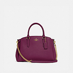 COACH F28976 - SAGE CARRYALL IM/DARK BERRY