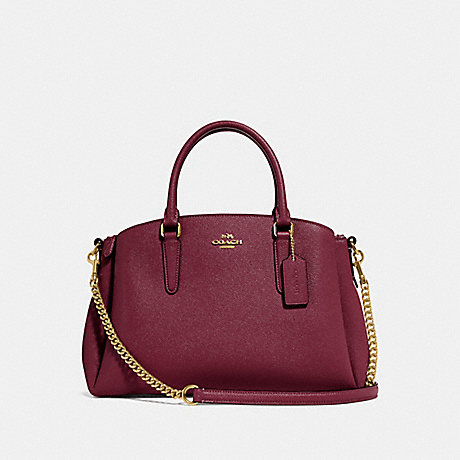 COACH F28976 SAGE CARRYALL WINE/IMITATION GOLD