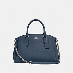 COACH F28976 Sage Carryall DENIM/SILVER