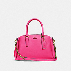 COACH F28977 Mini Sage Carryall PINK RUBY/GOLD
