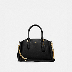 COACH F28977 - MINI SAGE CARRYALL BLACK/LIGHT GOLD