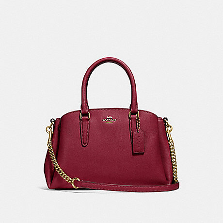 COACH F28977 MINI SAGE CARRYALL CHERRY-/LIGHT-GOLD