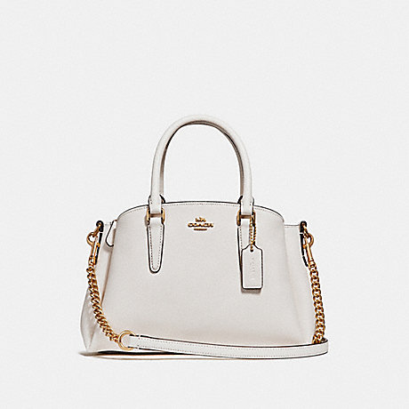 COACH f28977 MINI SAGE CARRYALL CHALK/IMITATION GOLD