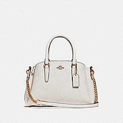 COACH F28977 - MINI SAGE CARRYALL CHALK/LIGHT GOLD