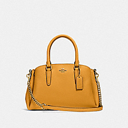 COACH F28977 - MINI SAGE CARRYALL MUSTARD YELLOW/GOLD
