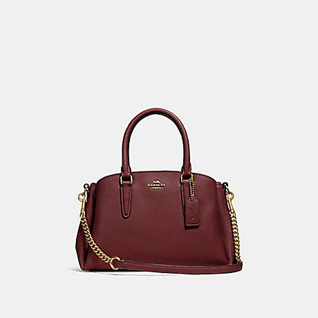 COACH F28977 MINI SAGE CARRYALL WINE/IMITATION GOLD