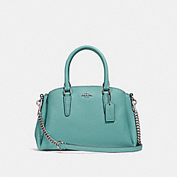 COACH F28977 - MINI SAGE CARRYALL AQUAMARINE/SILVER