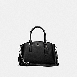 COACH F28977 Mini Sage Carryall BLACK/SILVER