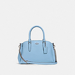COACH F28977 Mini Sage Carryall CORNFLOWER/SILVER